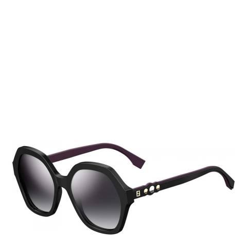 Fendi Women's Black/Violet Fendi Sunglasses 56mm
