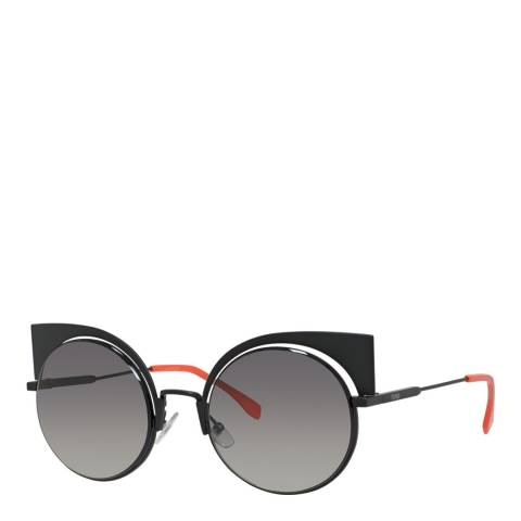 Fendi Women's Black Matte Fendi Oversized Cat Eye Sunglasses