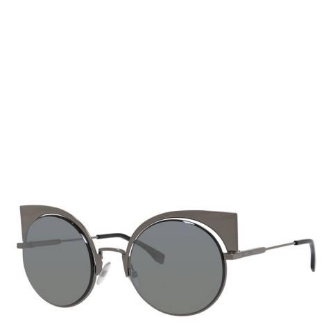 Fendi Women's Grey Fendi Cat Eye Sunglasses  53mm