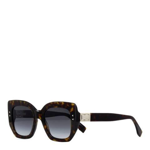 Fendi Women's Havana Fendi Square Sunglasses 51mm