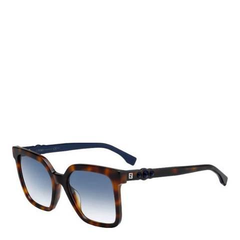 Fendi Women's  Fendi Havana/Blue Sunglasses 54mm