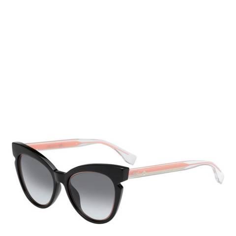 Fendi Women's Black/Pink Fendi  Graduated Grey Sunglasses 51mm