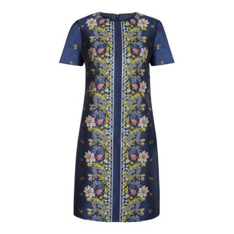 Hobbs London Blue/Multi Augusta Shift Dress