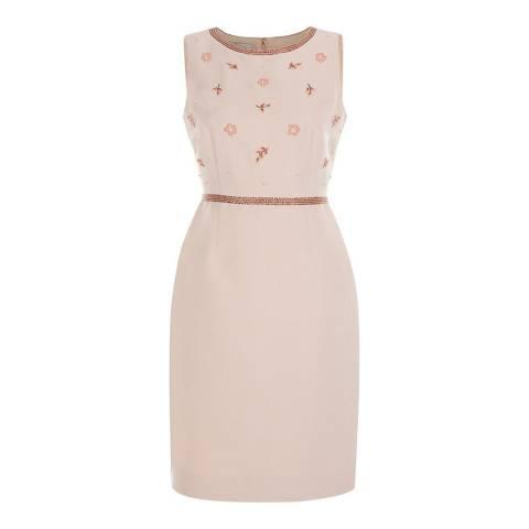 Hobbs London Pink Ashton Beaded Dress