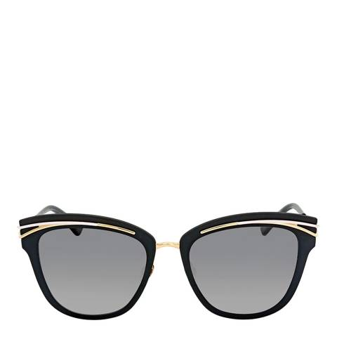 Christian Dior Women's Black with Gold Arms / Grey Sunglasses 53mm