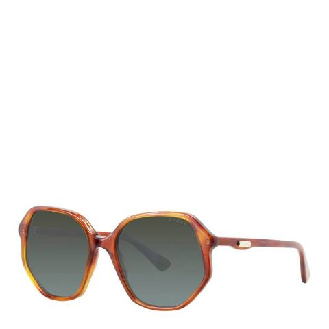 Gucci Unisex Brown Sunglasses 56mm