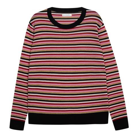 Chinti and Parker Multi Stripe Multi Colour Striped Sweater