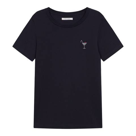 Chinti and Parker Navy Short Sleeve Cocktail T-Shirt