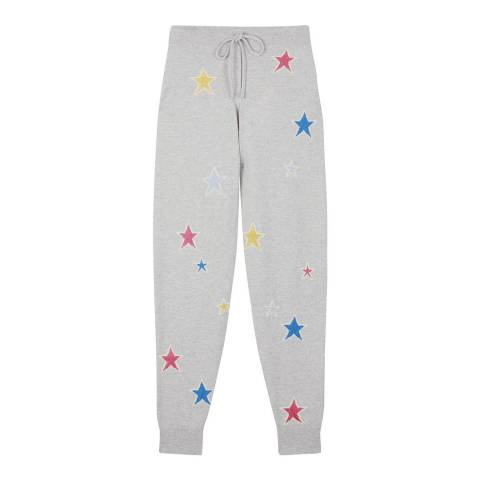 Chinti and Parker Silver Marl/Multi Cashmere Acid Star Track Pant