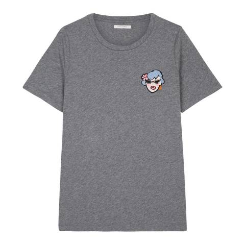 Chinti and Parker Silver Marl Maud T-Shirt
