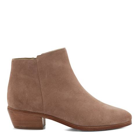 Hobbs London Pink Neutral Suede Ankle Boots