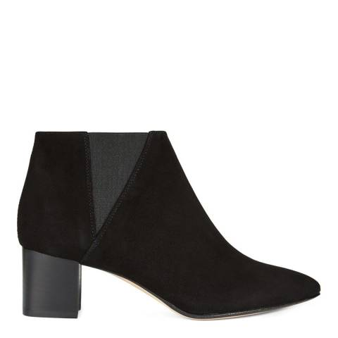 Hobbs London Black Suede Florence Ankle Boots