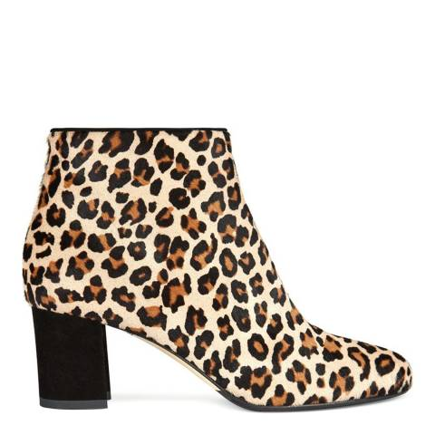 Hobbs London Leopard Tegan Ankle Boot