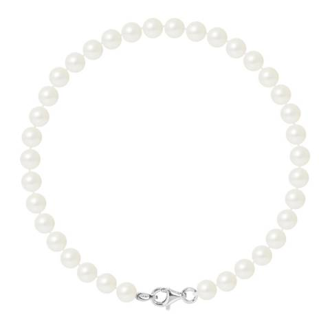Mitzuko Natural White Silver Freshwater Pearl Bracelet 9-10mm