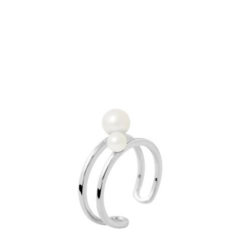 Mitzuko Silver/White Cultured Tahiti Pearl Ring