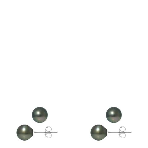 Mitzuko Silver Real Cultured Freshwater Pearl Earring