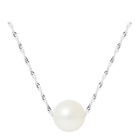 Mitzuko White/ White Gold Real Cultured Freshwater Pearl Necklace