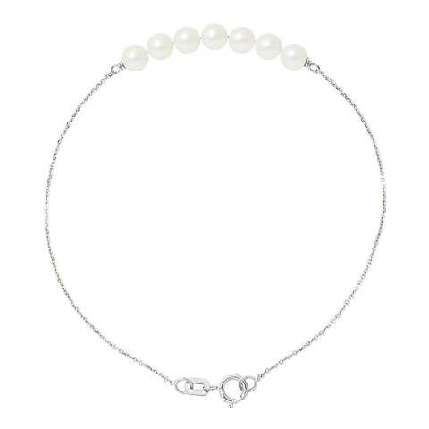 Mitzuko White Gold/white Tahitian Stle Real Cultured Freshwater Pearls Bracelet