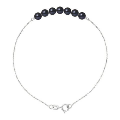 Mitzuko Black Tahitian Stle Real Cultured Freshwater Pearls Bracelet