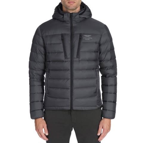 Hackett London Grey AMR Lightweight Down Jacket