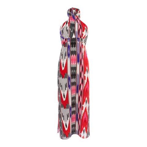 Karen Millen Multicolour Abstract Print Maxi Dress