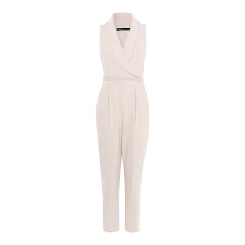 Karen Millen Neutral Tailored Jumpsuit