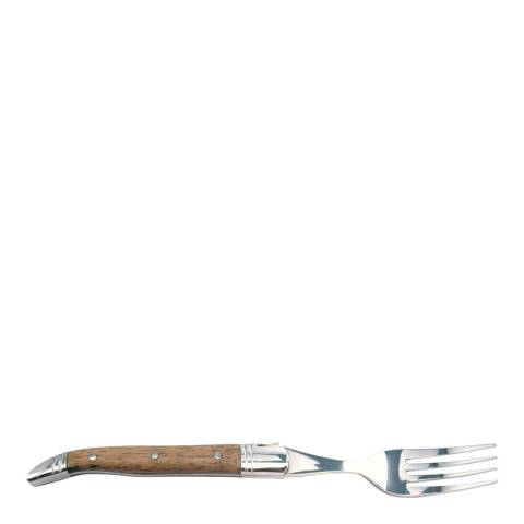 Laguiole Set of 6 Brown Traditional Forks