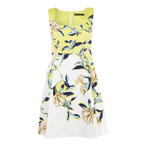 Karen Millen Yellow/Multi Floral Print Dress