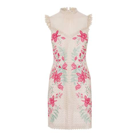 Karen Millen Multicolour Embroidered Georgette Dress