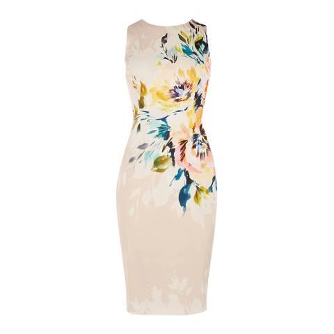 Karen Millen Multicolour Floral Pencil Dress