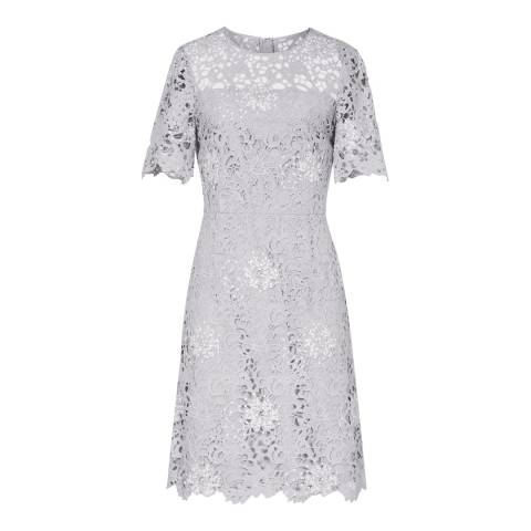 Reiss Blue Lina Lace Dress