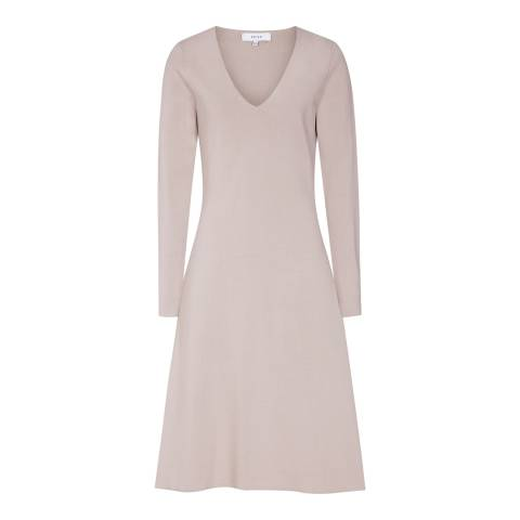 Reiss Pink Emelia Knitted Dress