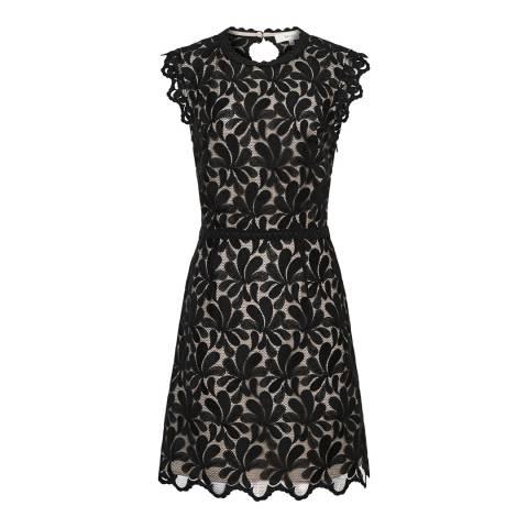Reiss Black Sami Lace Dress