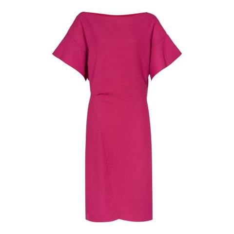 Reiss Pink Manila Ruffle Dress