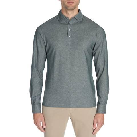 Hackett London Green Mayfair Pique Polo Shirt