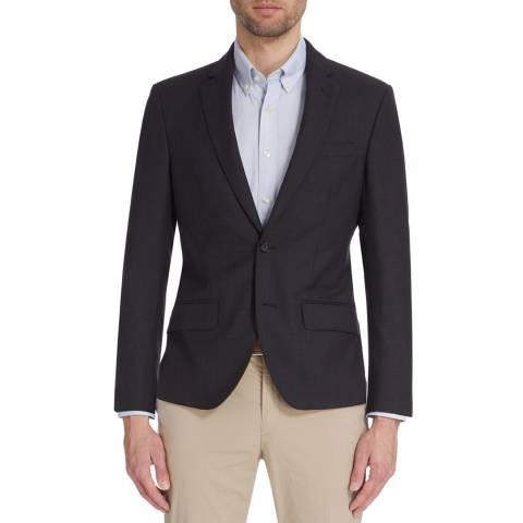 Hackett London Dark Grey Plain Mayfair Suit Jacket