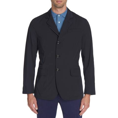 Hackett London Navy Stretch Nylon Blazer