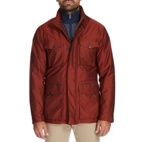Hackett London Red AML Padded Field Jacket