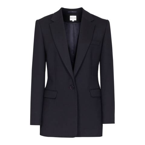 Reiss Navy Apache Short Jacket