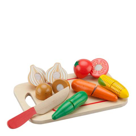 New Classic Toys 8 Piece Vegetable Cutting Playset