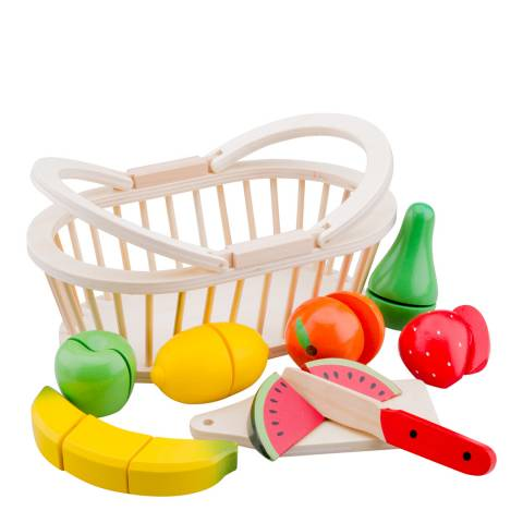 New Classic Toys Fruit Basket Cutting Meal Playset