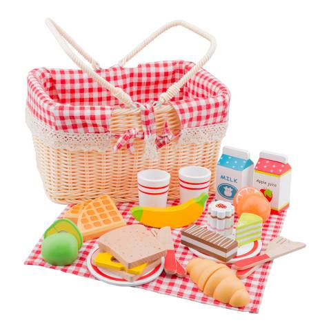 New Classic Toys 27 Piece Picnic Basket Playset