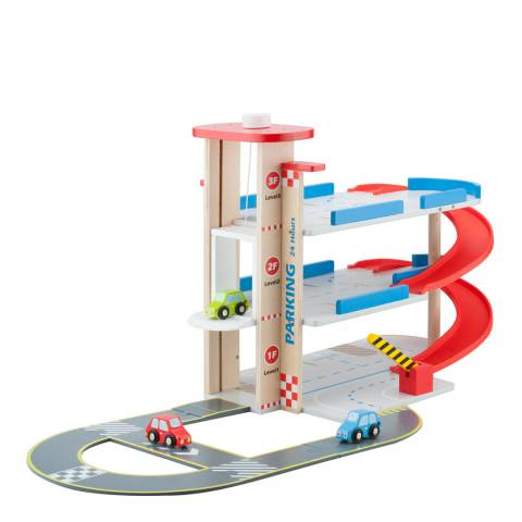 New Classic Toys Parking Garage With Track & 3 Cars Playset