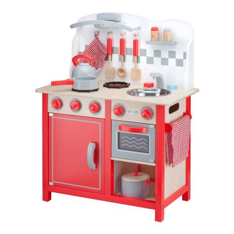 New Classic Toys Red Deluxe Kitchenette Playset