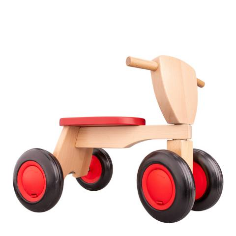 New Classic Toys Red Wooden Road Star Trike