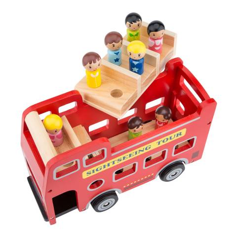 New Classic Toys City Tour Bus with 9 Play Figures Toy