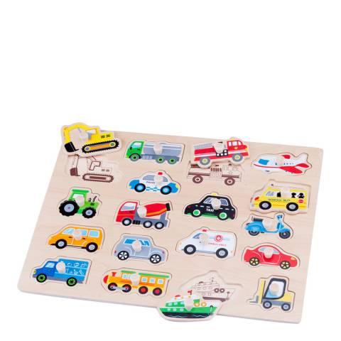 New Classic Toys Vehicle Peg Puzzle