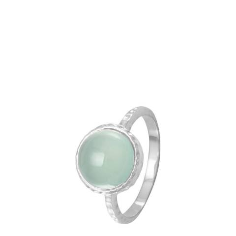 Alexa by Liv Oliver Sea Green/Sterling Silver Ring
