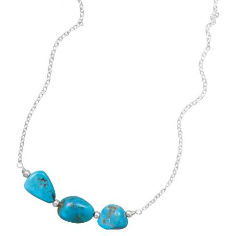 Alexa by Liv Oliver Multi Turquoise Sterling Silver Shape Necklace