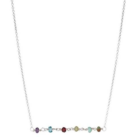 Alexa by Liv Oliver Multi Gemstone Sterling Silver Necklace